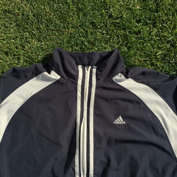 cba06a19c adidas Jackets & Coats | Sold On Depop Navy Blue Windbreaker | Poshmark